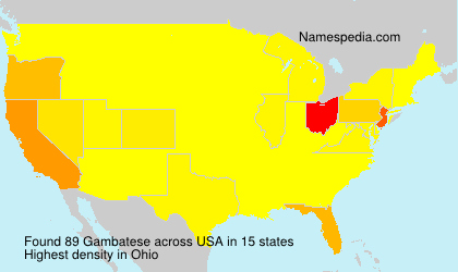 Surname Gambatese in USA