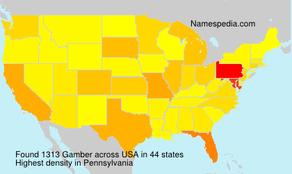 Surname Gamber in USA