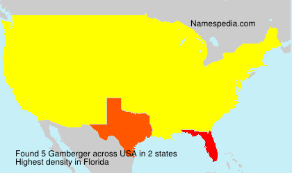 Surname Gamberger in USA