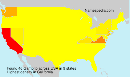 Surname Gambito in USA