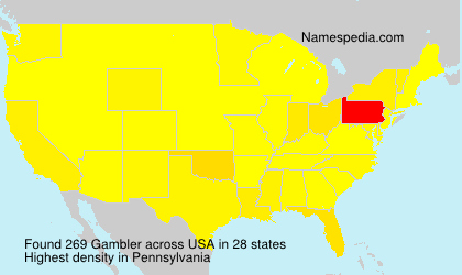 Surname Gambler in USA