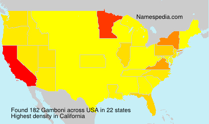 Surname Gamboni in USA