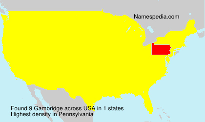 Surname Gambridge in USA