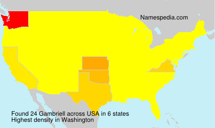 Surname Gambriell in USA