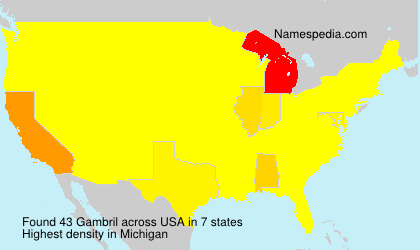 Surname Gambril in USA