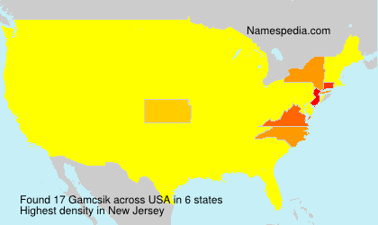 Surname Gamcsik in USA
