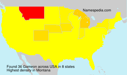 Surname Gameon in USA
