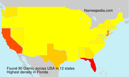 Surname Gamio in USA