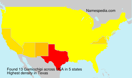 Surname Gamiochipi in USA