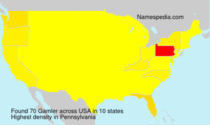 Surname Gamler in USA
