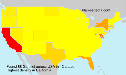 Surname Gamliel in USA