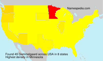 Surname Gammelgaard in USA