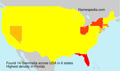 Surname Gammella in USA