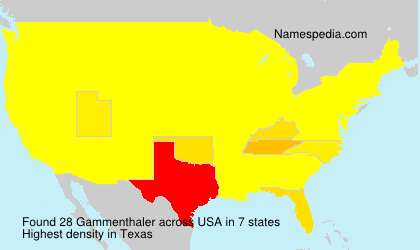 Surname Gammenthaler in USA