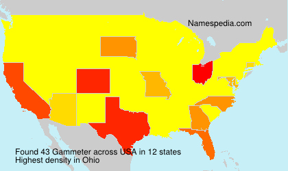 Surname Gammeter in USA