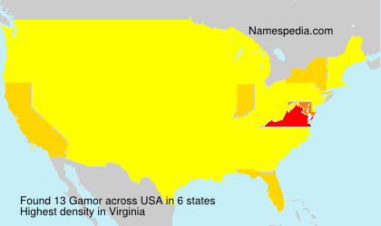 Surname Gamor in USA