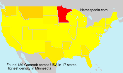 Surname Gamradt in USA