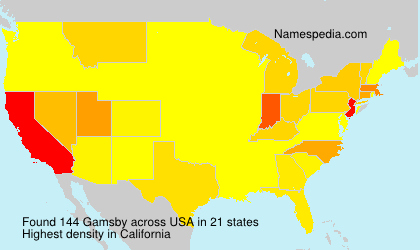Surname Gamsby in USA