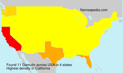 Surname Gamulin in USA