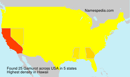 Surname Gamurot in USA