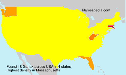 Surname Ganak in USA