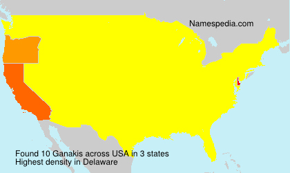 Surname Ganakis in USA