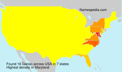 Surname Ganao in USA