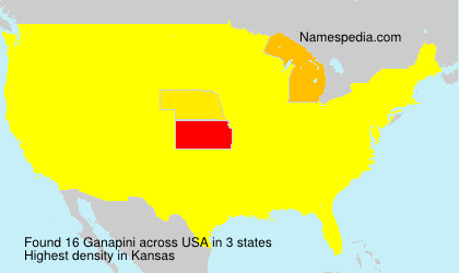 Surname Ganapini in USA