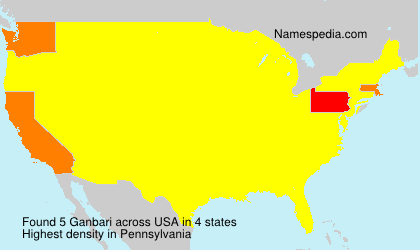 Surname Ganbari in USA