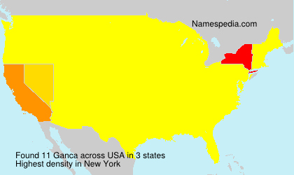 Surname Ganca in USA