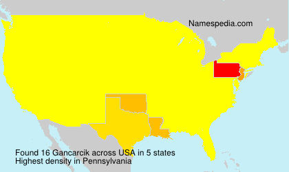 Surname Gancarcik in USA
