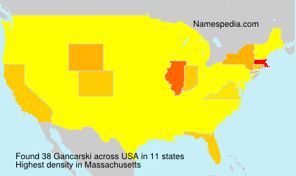 Surname Gancarski in USA