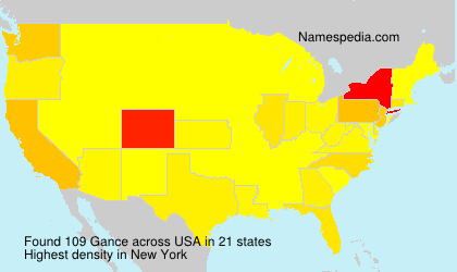 Surname Gance in USA