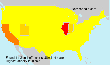 Surname Gancheff in USA
