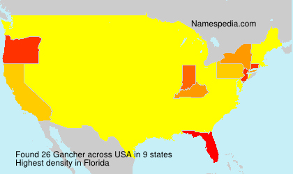 Surname Gancher in USA