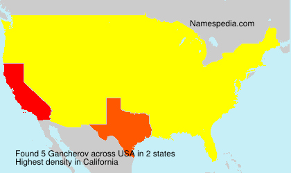 Surname Gancherov in USA