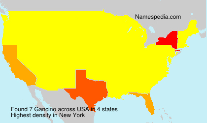 Surname Gancino in USA