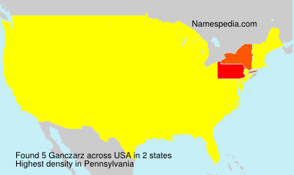 Surname Ganczarz in USA
