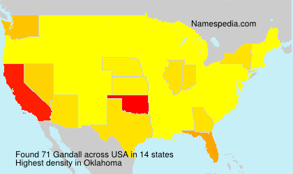 Surname Gandall in USA