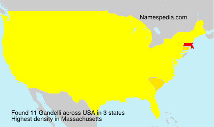 Surname Gandelli in USA
