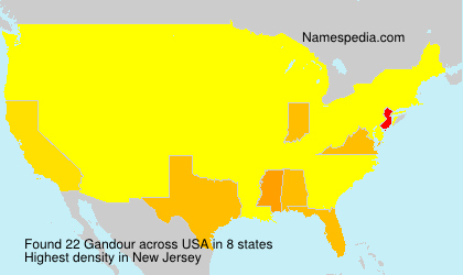 Surname Gandour in USA