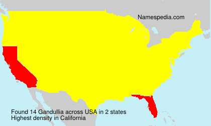 Surname Gandullia in USA