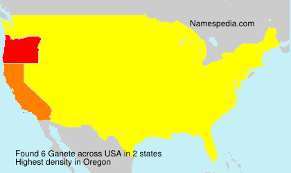Surname Ganete in USA