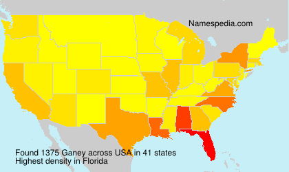 Surname Ganey in USA