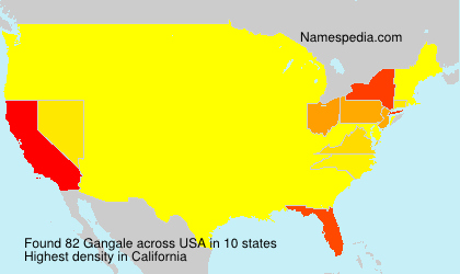 Surname Gangale in USA