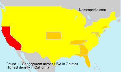 Surname Gangapuram in USA