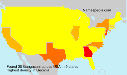 Surname Gangasani in USA