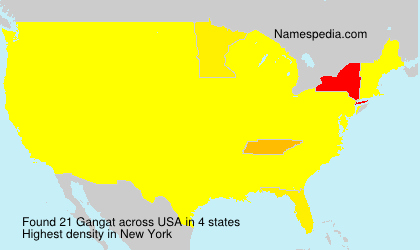 Surname Gangat in USA