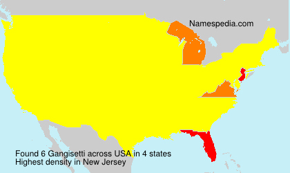 Surname Gangisetti in USA