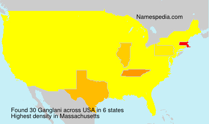 Surname Ganglani in USA